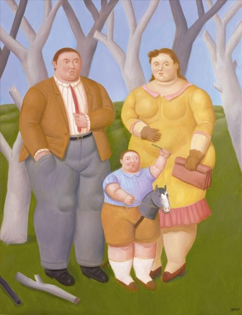 Fernando Botero, Familia en el campo — Cortesía de Galería Marlborough - Madrid