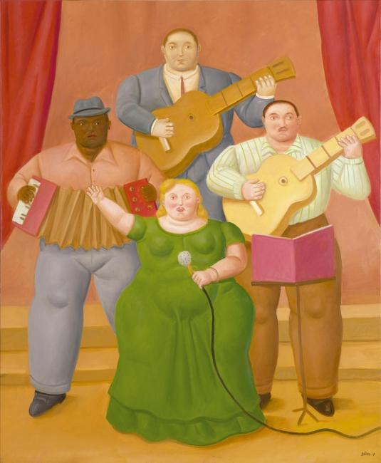 Fernando Botero, Músicos y cantante — Cortesía de Galería Marlborough - Madrid