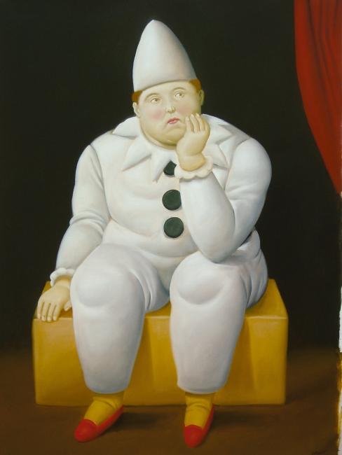 Fernando Botero, Pierrot — Cortesía de Galería Marlborough - Madrid