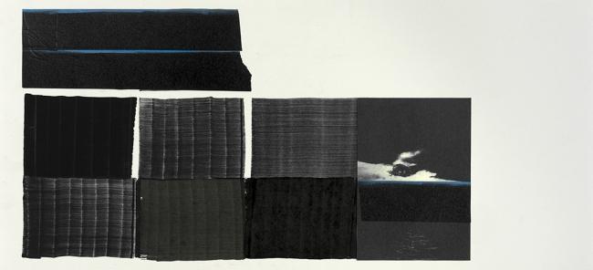 Juan Uslé I Carbón y Maculares I 2011 - 2018 I Cartolina i técnica mixta I 56 x 71,2 cm. I Foto: Sergio Belinchón — Cortesía del MACE