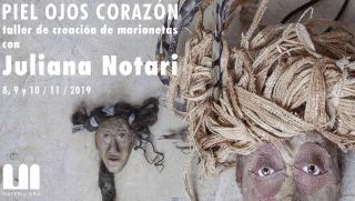 Juliana Notari taller marionetas en materic.org hospitalet barcelona