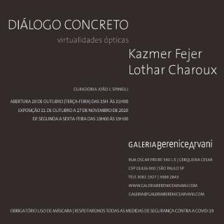Diálogo Concreto – Kazmer Fejer e Lothar Charoux: virtualidades ópticas