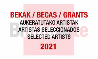 Becas con cesión de estudio BilbaoArte 2021