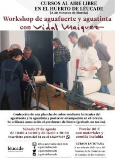 Workshop de aguafuerte y aguatinta con Vidal Máiquez