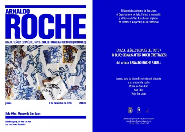 Arnaldo Roche, In Blue: Signals After Touch (Frontages)