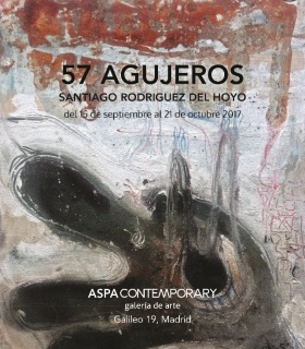 57 Agujeros de Santiago Rodríguez del Hoyo, en Aspa Contemporary