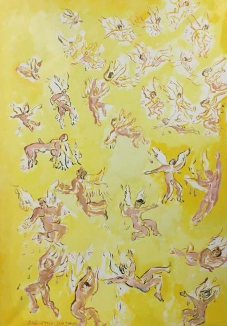 Ícaros - AGOSTO - 116 x 81 cm., óleo sobre lienzo