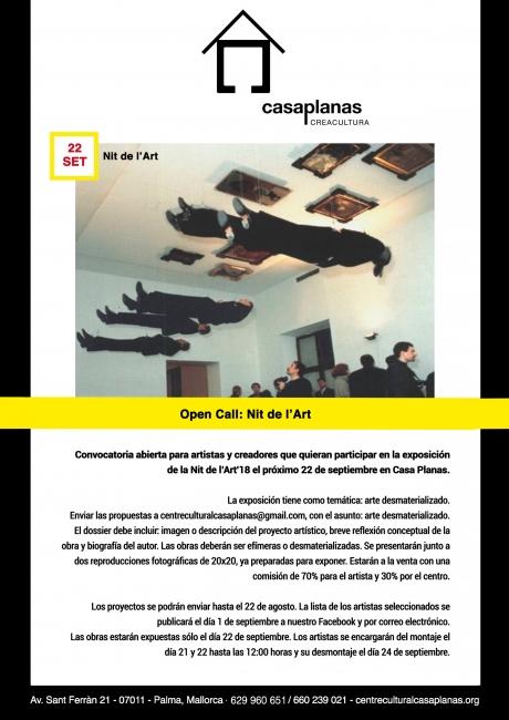 OPEN CALL: Nit de l'Art Palma de Mallorca