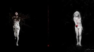 "Photogram of the video creation ""Where from and where to"" by Isabel Muñoz, projected in room 5 of CORPO — Cortesía de Colección Roberto Polo. Centro de Arte Moderno y Contemporáneo de Castilla-La Mancha (CORPO)"
