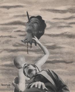 Nicolás de Lekuona, Cabeza amputada (autorretrato), 1937
