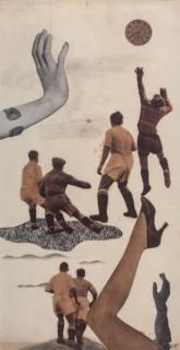 Nicolás de Lekuona, Futbolistas, 1935. 37,5x19 cm.