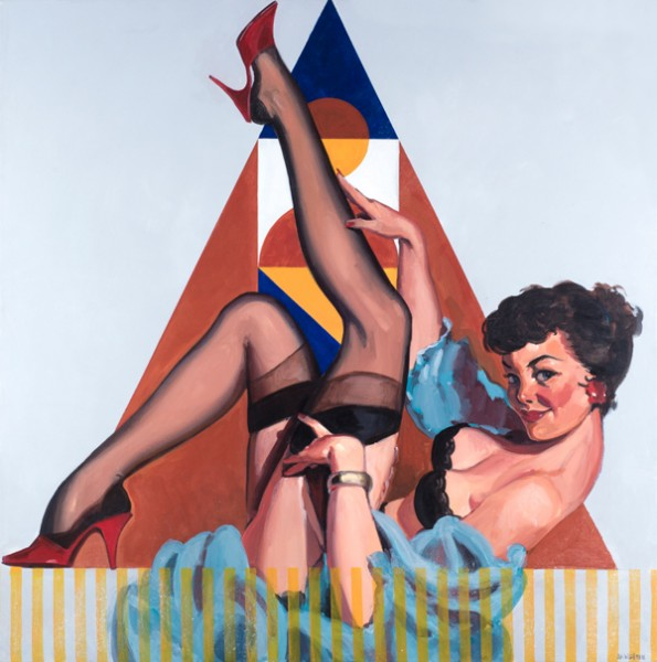 Ahmed Gomez | A, 2016 | Serie Abecedario Pin Up | Acrílico s/lienzo | 152 x 152 cms