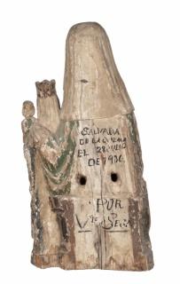Anónimo. Santa Generación. Primera mitad del siglo XV. Madera policromada. Procedente de la iglesia de Capella (Huesca). Museu de Lleida