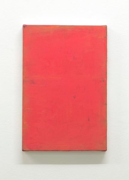 Sergio Sister, Vermelho da china, 2017, óleo sobre tela, 30 x 20 cm