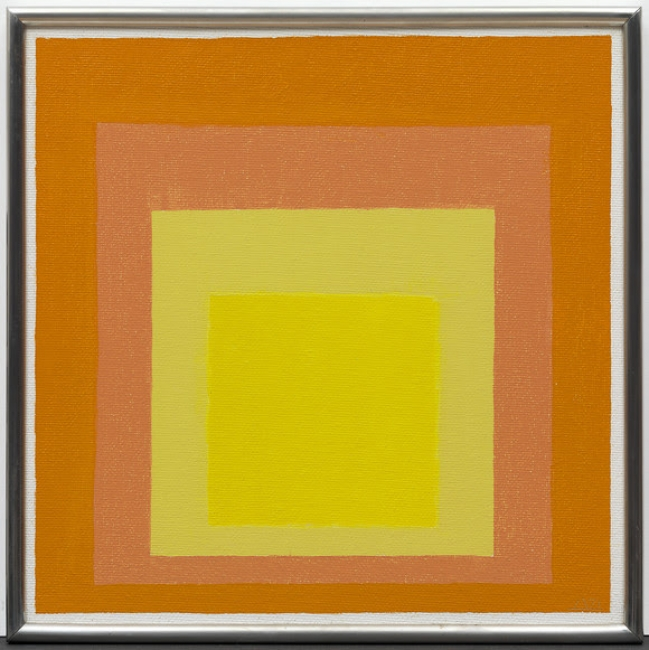 Josef Albers, Study for Homage to the Square: Consent, 1971. Oil on Masonite, 40.3 x 40.2 cm. Solomon R. Guggenheim Museum, gift, The Josef Albers Foundation. © 2017 The Josef and Anni Albers Foundation/Artists Rights Society (ARS).