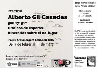 Alberto Gil Casedas. 50h 17' 51'' Gráficos de esperas. Itinerarios sobre el no-lugar