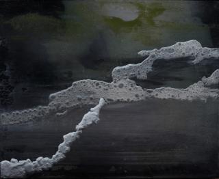 Darío Urzay: s/t, 2018. Técnica mixta sobre lienzo. 50x60 cm. — Cortesía de la Galería Juan Silió