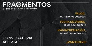 Convocatoria para intervenciones artísticas en 'Fragmentos, Espacio de Arte y Memoria'