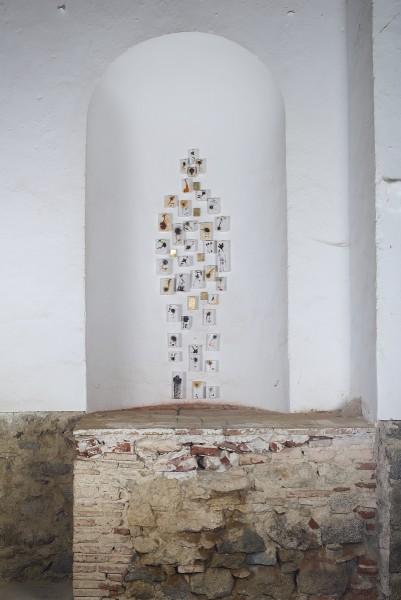 Antropometria II . Mixta sobre madera. 180 x 50 x 8 cm