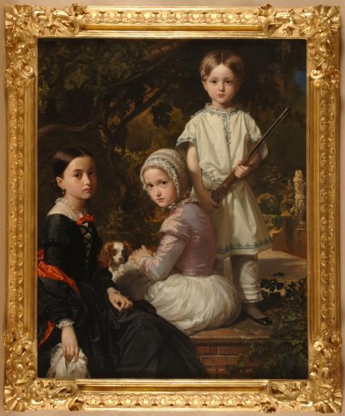 Federico de Madrazo Kuntz. Luisa, Rosa y Raimundo de Madrazo Garreta, hijos del pintor (1845)