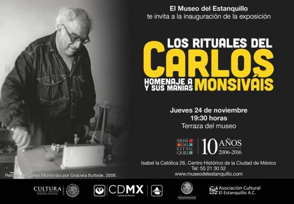 Los rituales del Carlos. Homenaje a Monsiváis y sus manías