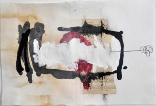Cristina Moroño. Retrato Americano, 2016. Collage, pulpa de papel y pintura. 36x52,5 cm.