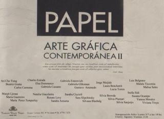 PAPEL / ARTE GRÁFICA CONTEMPORÁNEA II