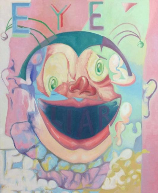 Chema Cobo, The Gambler, 2017. Óleo sobre lienzo. 120x100 cm. – Cortesía de la Galería Juan Silió