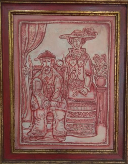 Virxilio. ST. Acrílico sobre tabla. 96 x 75 cm. — Cortesía de la galería José Lorenzo