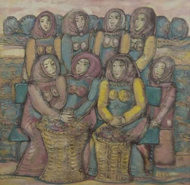 Virxilio. Vendimiadoras. 102 x 99. Vendimiadoras — Cortesía de la galería José Lorenzo