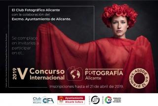 V Concurso Internacional de Fotografía «Alicante» - Cartel