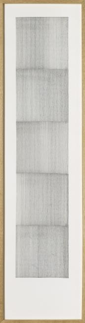 Rui Soares Costa - untitled 3332/2 (lifeline series), 2019 - pigmented pen on paper, 200 x 38 cm