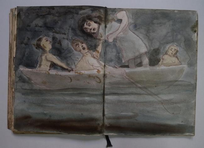 Victor Julio González, Diarios de suen?os 1 — Cortesía de Carmen Araujo Arte