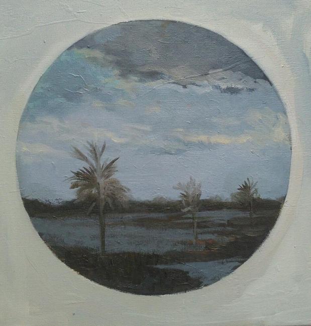 Victor Julio González, Esteros de Camaguan, 40,5x40,5 cm., 2018-2019 — Cortesía de Carmen Araujo Arte