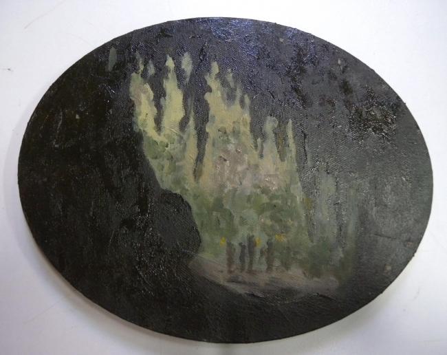 Victor Julio González, La cueva del Gua?charo 1, 20,5 x 25,5 cm., 2019 — Cortesía de Carmen Araujo Arte