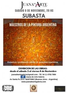 4°SUBASTA DE MAESTROS DE LA PINTURA ARGENTINA