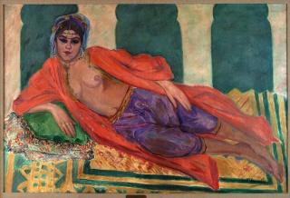 Francisco Iturrino González / Odalisca, 1912 Colección Zorilla Lequerica — Cortesía del IVAM