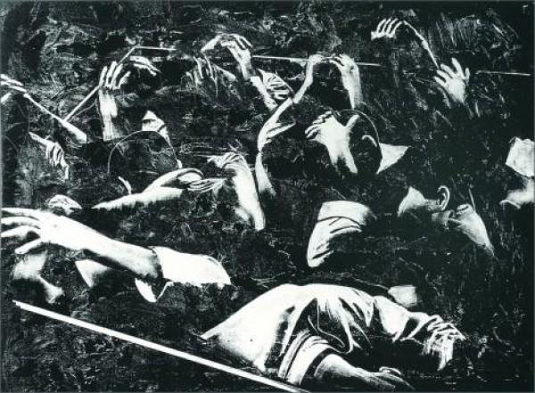 Rafael Canogar, Los prisioneros, 1969