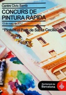 Cartel anunciante del evento Concurso de pintura rápida .