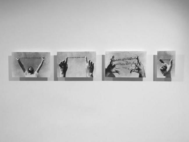 """""""Ensaios para uma nova expressão da escrita"""", 1980, Fernando Aguiar. Imagen cortesía del artista."""