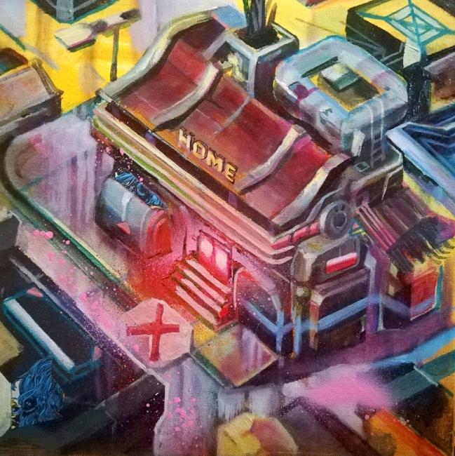 Arcade Painting n 9, El color que cayo del cielo