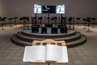 Partitura, 2017. / Score, 2017. Vista de instalación en el Azkuna Zentroa, Bilbao 2017. / Installation view at Azkuna Zentroa, Bilbao 2017. Foto / Photo: Oak Taylor-Smith. Cortesía del artista