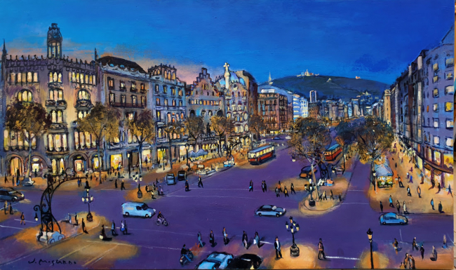 Josep Moscardó, Passeig de Gràcia — Cortesía de L'ARCADA Galeria d'Art