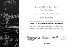Grupo el Paso. Fundación Antonio Pérez - Invitación