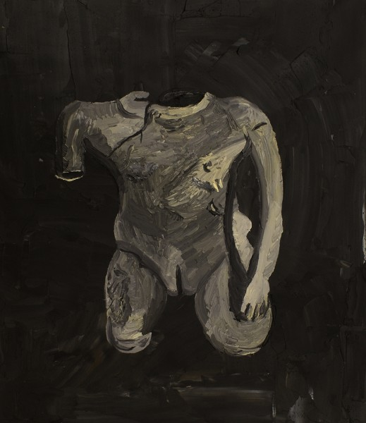 Christian Vinck, Frag de i?dolo, 70,5 x 60,5 cm., 2014. Óleo sobre lienzo