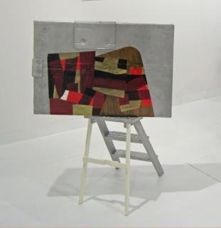 Pello Irazu, Felin´s ladder, 122x89x80 cm, elementos de aluminio fundidos, soladados y parcialmente pintados. 2007