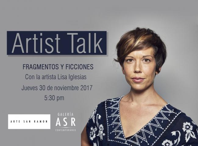 CONVERSATORIO CON LA ARTISTA LISA IGLESIAS. Imagen cortesía Galeria ASR Contemporaneo