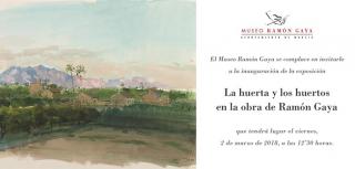 La huerta y los huertos en la obra de Ramón Gaya