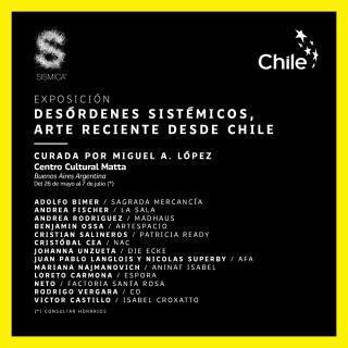 Desórdenes Sistémicos: Arte reciente desde Chile. Imagen cortesía José Domingo Martínez Rippes