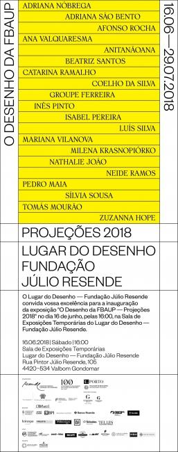 O desenho da FBAUP - Projeções 2018